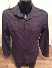 """River Island my shirt brown stripe shirt size L approx 40"""" chest"""