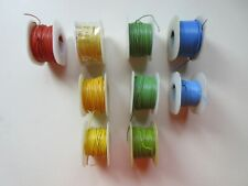 Lot Of 9 Belden 8505 Wire 26awg Stranded Pvc Orange Yellow Green Blue
