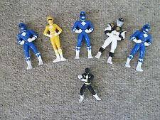 Power Rangers Mini Figures Saban 1995 Set of 6 - Rare Vintage Find