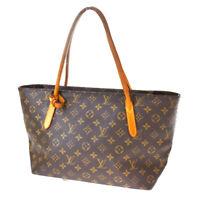 Auth LOUIS VUITTON  Raspail PM Tote Shoulder Bag Monogram Leather M40608 84SB167