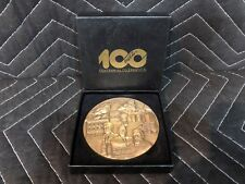 Large 1886-1986 Bronze Coca Cola 100 Years Centennial Celebration Coin Art Boxed