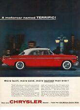 1955 Chrysler Windsor Deluxe Nassau Red White Automobile Car Vtg Print Ad #2