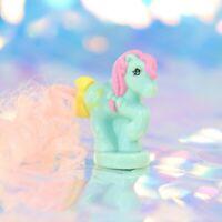 Vintage My Little Pony PETITE PONIES PONYTAIL Set # 2 Pink Aqua G1 MLP BH906