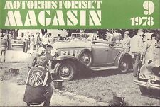 Motorhistoriskt Magasin Swedish Car Magazine 9 1978 MHS 040317nonDBE