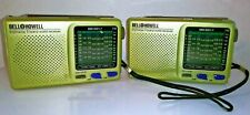 Pair (2) Bell and Howell World Receiver 9 Band Bell Shortwave FM/MW/SW