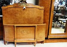Antique Art Deco French Armoire and Bed Bird's Eye Maple Bedroom Suite Double