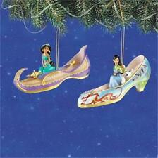 DISNEY JASMINE & MULAN Once Upon A Slipper Ornament Collection #4 NEW