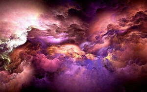 Modern Wall Art Gift Purple Abstract Canvas Print Painting Home Decor HD Picture
