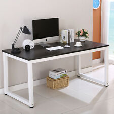 Computer Desk Wooden PC Laptop Table Workstation Study Home Office Black Modern