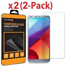 2-Pack Premium Tempered Glass Screen Protector Guard For LG G6