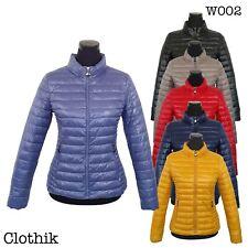 PIUMINO DONNA 100 grammi giubbotto corto avvitato giacca giaccone slim fit W002