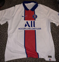 Nike PSG Paris Saint-Germain Vapor Match Jersey Large White CD4188-101 reg $165
