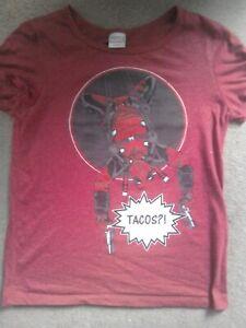 Women's Deadpool t-shirt size Medium Marvel Tacos