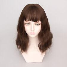 "Natural Wave Lace Front Short Bob Cosplay Hair Fashion Woman Wig + Cap 43cm 17"""
