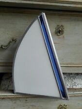 Lámpara de Ambiente Velero de Vidrio Blanco y Azul