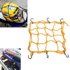 Rete+ganci reggi porta casco bagaglio moto motorino scooter motocicletta GIALLO