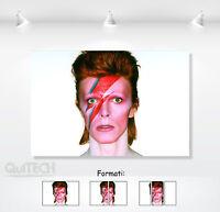 David Bowie - 4 - Quadro stampa su Tela Pelle Canvas Dipinto Arte Moderna