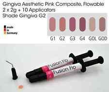 Gingiva Gum Shade Aesthetic Pink Flowable Dental Composite 2 x 2g, VITA G2