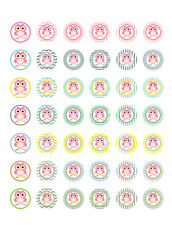Owl Themed/ It's a Girl/ Baby Shower Printable Bottle Cap Images ~ 42 Designs