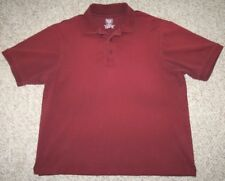 Denver Hayes Polo Shirt Men's XL Extra Large Cotton Lycra Red Short Sleeve Top