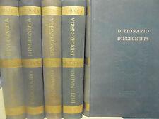 DIZIONARIO D' INGEGNERIA - IN 5 VOLUMI a cura di ELIGIO PERRUCCA - UTET  1951