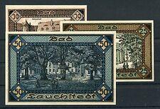Bad Lauchstedt 10, 25,  50 pfennig Notgeld