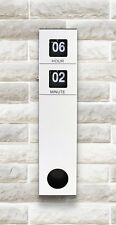 Long Flip Clock Quartzwerk  Pendulum Wanduhr Pendeluhr Weiß