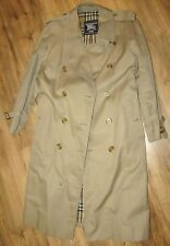 BURBERRY GENUINE MEN'S TRENCH COAT MIEL 46 SHORT C86A WATERPROOF BARELY WORN