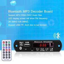 DEL Auto Bluetooth MP3 Decoder Board Audio Module USB TF FM + Remote Contrôleur