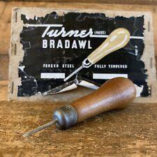 Vintage TURNER Australia Upholstery AWL BRADAWL Hole Marking Drill Hand Tool #27