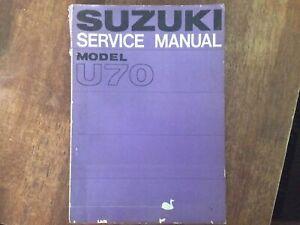 Suzuki U70 Service Manual Very Good Condition