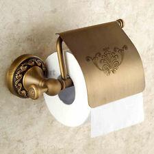 Antique Brass Bathroom Toilet Roll Paper Holder Wall Mount Tissue Storage Holder