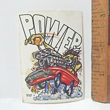 1970S SCANLENS ODDEST ODD RODS STICKER #117 GEARSTICK POWER MUSCLE CAR DONRUSS