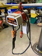 Harrington 250 Lb Two Speed Chain Hoist Ed250d 120v Single Phase
