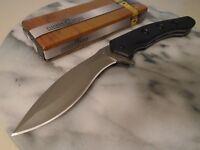 "Timber Wolf Assisted Open Kukri Folder Large Pocket Knife G10 667 11"" Open New"