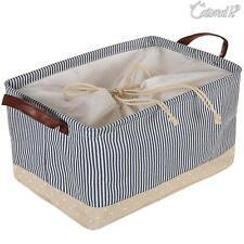 Storage Basket Bag with Handle Bedroom Closet Clothing Toy Storage Foldable Box