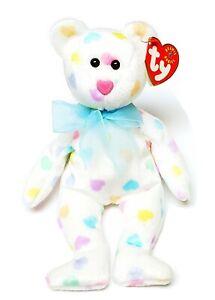 "RARE VINTAGE TY Beanie Baby ""Kissme The Valentines Day Bear"" ☆☆ERRORS☆☆"