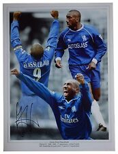 Jimmy Floyd Hasselbaink SIGNED autograph 16x12 HUGE photo Chelsea Football & COA