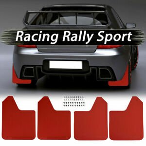 Red Mud Flaps Splash Guards Mudflap Mudguards For Subaru Impreza WRX STI Legacy