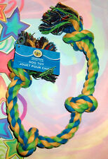 """4-KNOT Braided Dog Rope Tug of War Play 21"""" Chew For Large Aggressive Chewers"""