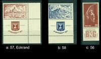 Israel 56 Tab, 57 Eckrand & 58 je Full Tab postfrisch, bitte auswählen #e088