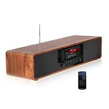 KEiiD Compact CD/MP3 Player Stereo Wooden Desktop Bluetooth Hi-Fi Speaker Portab
