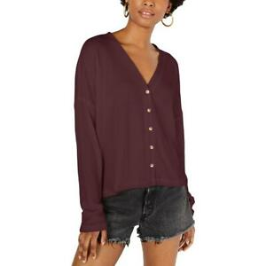 Hippie Rose Womens Hacci Card Purple Cardigan Sweater Top Juniors M BHFO 4963