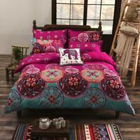 Bohemian Duvet Quilt Cover + Pillowcase Cotton Bedding Set Twin Queen King Size