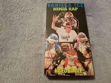 Vanilla Ice: Ninja Rap (1991) -VHS Tape-Teenage Mutant Ninja Turtles II-TMNT-NEW