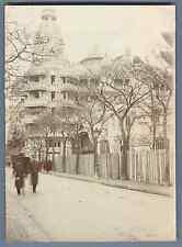 France, Paris, Le Tour du Monde  Vintage citrate print. Exposition Universelle d
