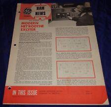 BH1071 Vtg G.E. General Electric Tubes Ham News Magazine July - August 1961