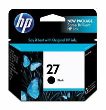 HP 27 Black Original Ink Cartridge (C8727AN), Yield 280