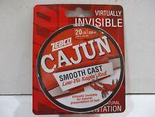 Zebco Cajun Smooth Cast fishing line 20 lb test 330 yards ragin red color Nip
