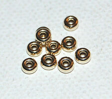 50 (FIFTY) - 14K SOLID YELLOW GOLD RONDELLE ROUNDEL BEADS - 4.2x2MM